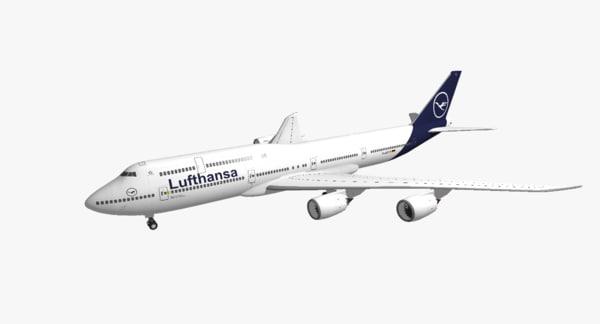 boeing 747-8i lufthansa new 3D