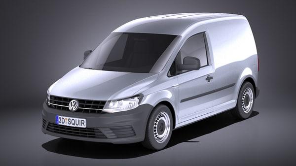 van volkswagen cargo 3D model