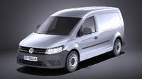 volkswagen caddy 2018 3D model