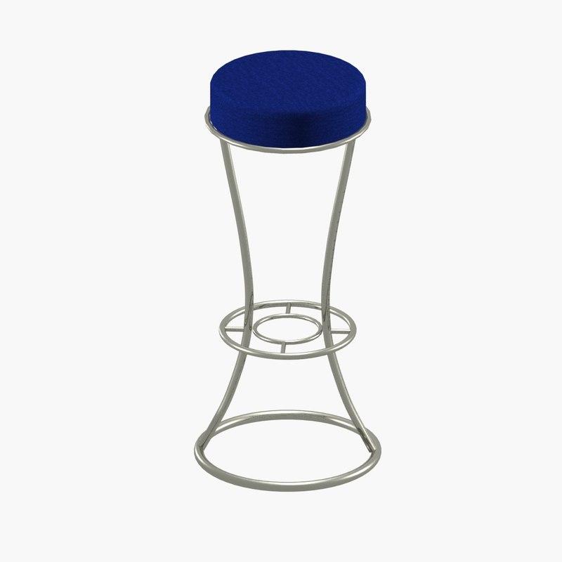3D modern bar stools