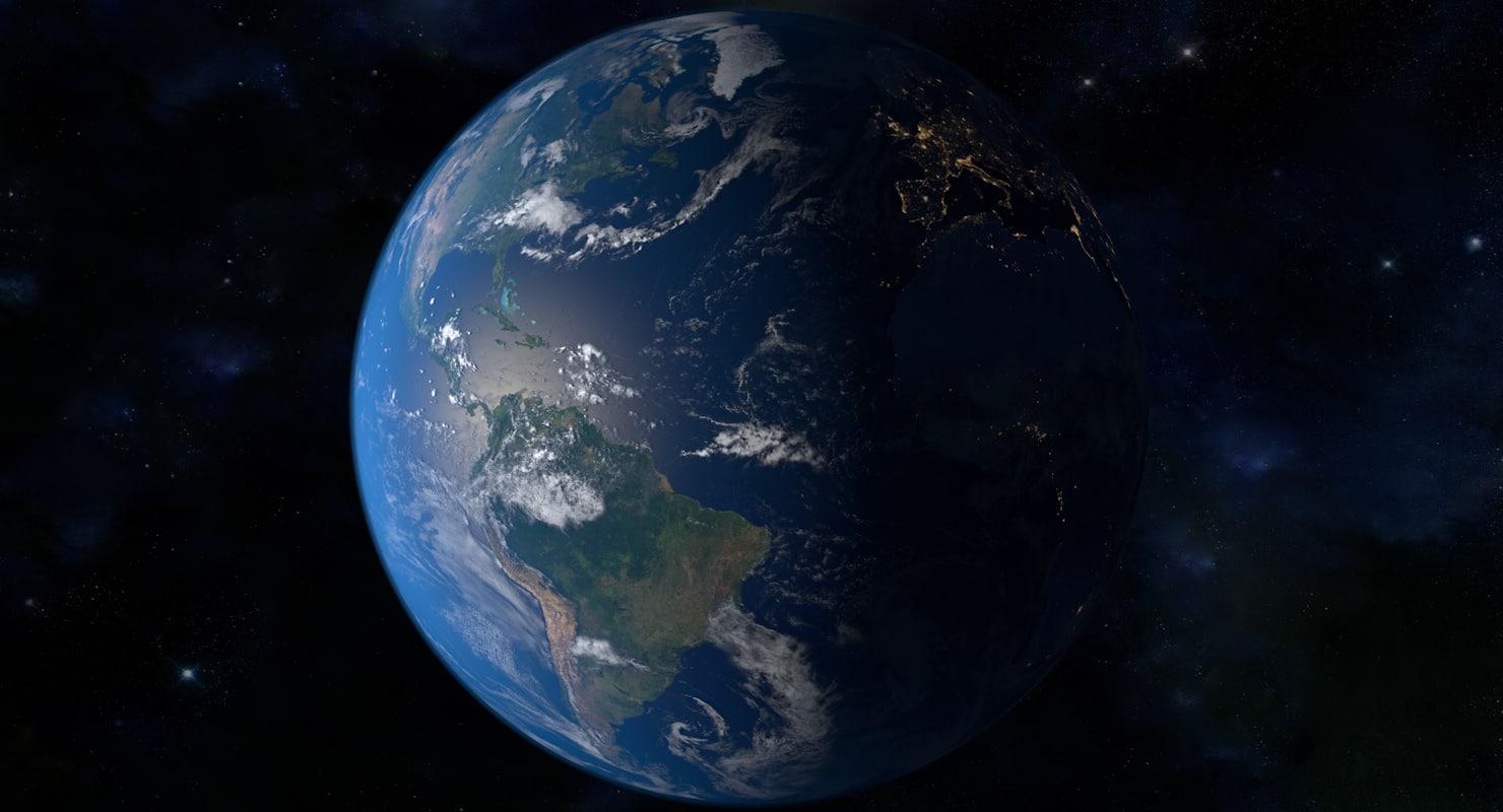 32k planet earth 3D model