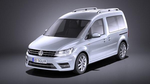 3D van passenger volkswagen