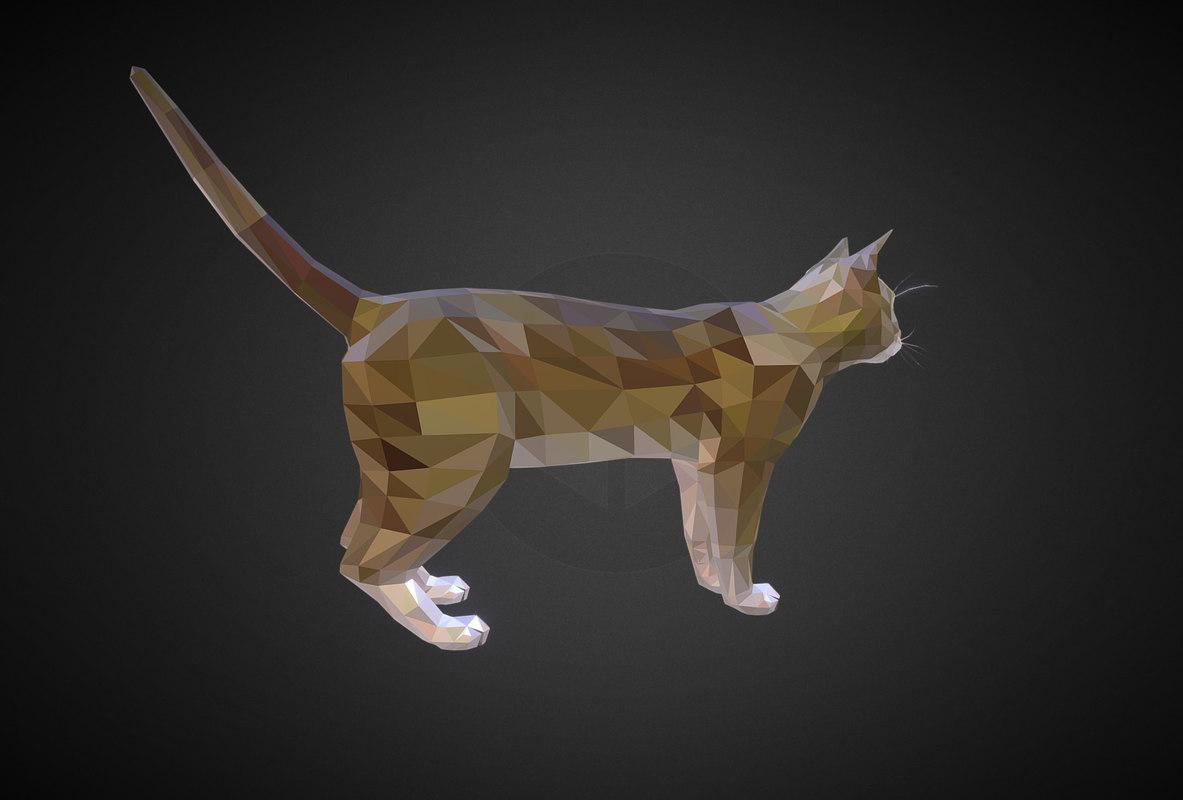 3D model animal cat farm