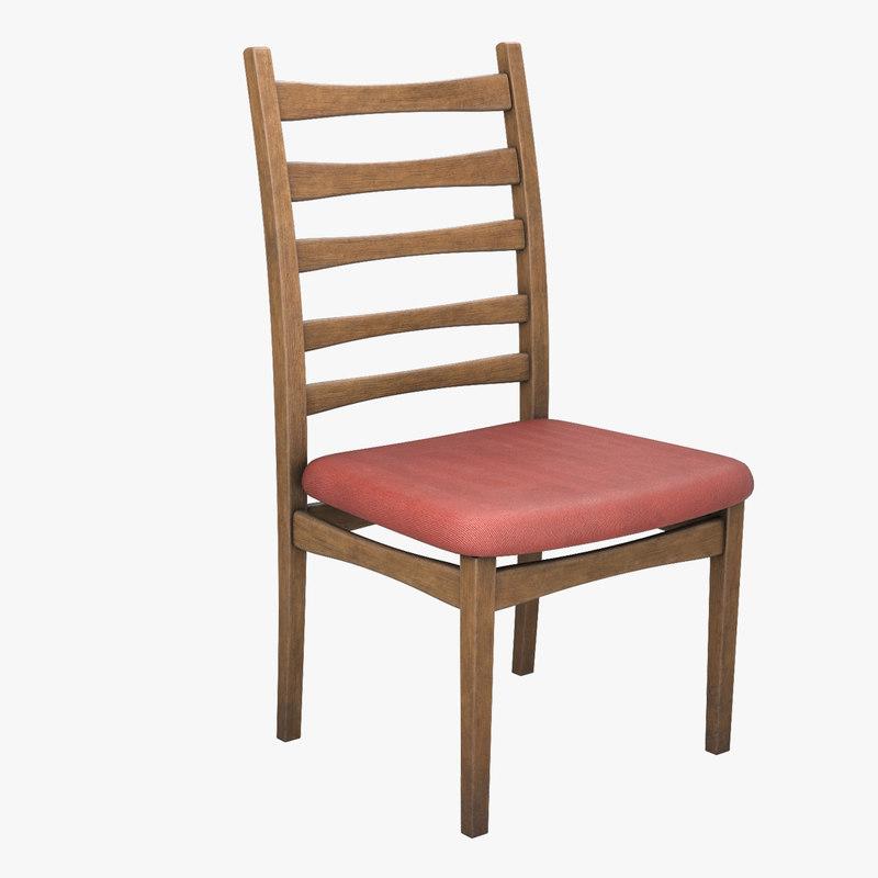 retro wooden chair model