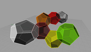 dodecahedron polyhedron model