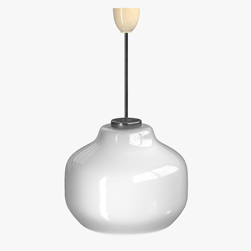 3D pendant lamp rigged model