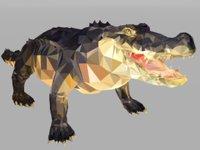 crocodile art reptile animal 3D model