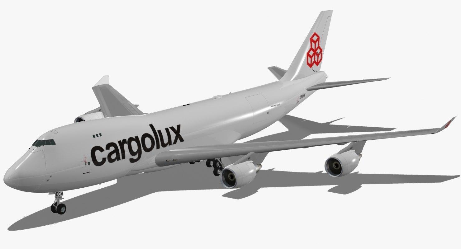 boeing 747-400 f cargolux 3D model