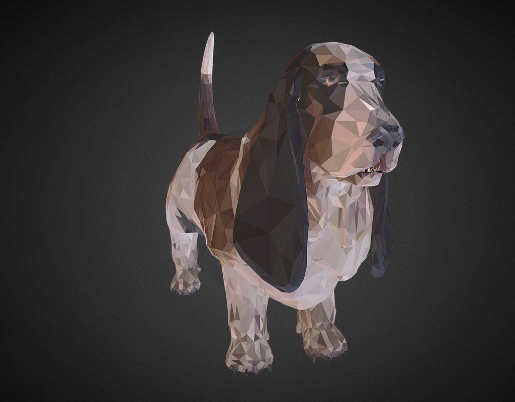 3D dog basset hound art - TurboSquid 1266339