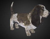 animal dog basset 3D model