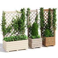 3D model planter trellis