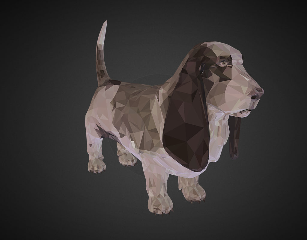3D dog basset hound art - TurboSquid 1266343
