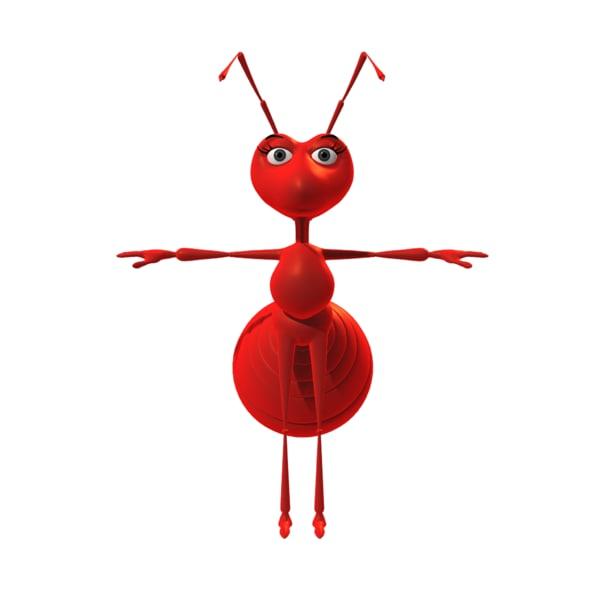ant cartoon toon 3D model