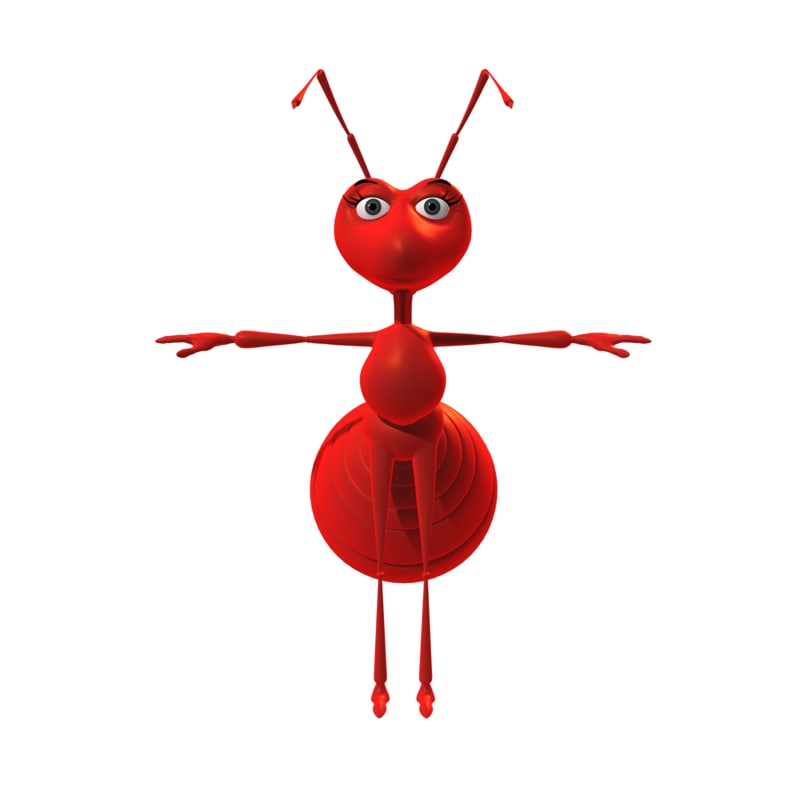 ant cartoon toon 3D model