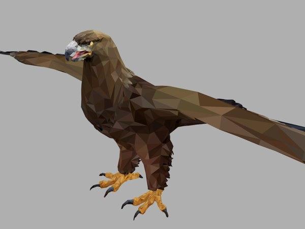 3D eagle art bird animal model
