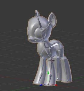 3D base earth pony