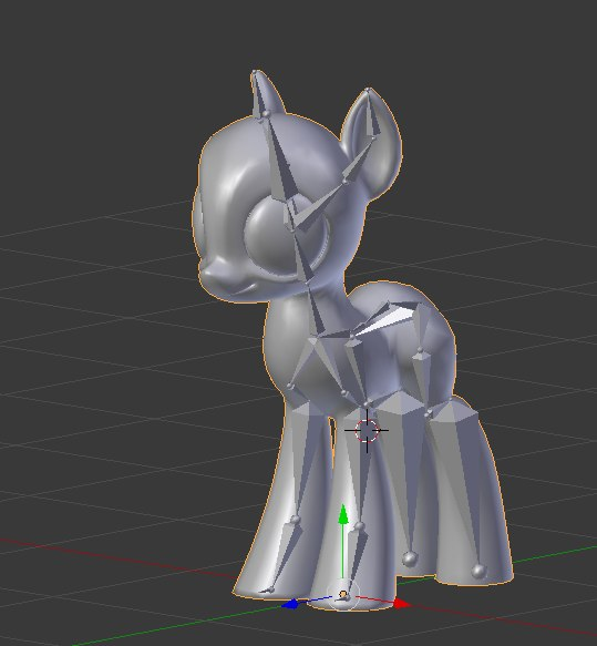 3D base earth pony