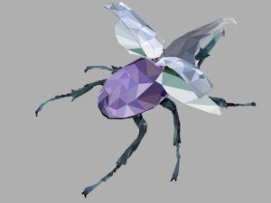 firefly bark beetle art 3D model