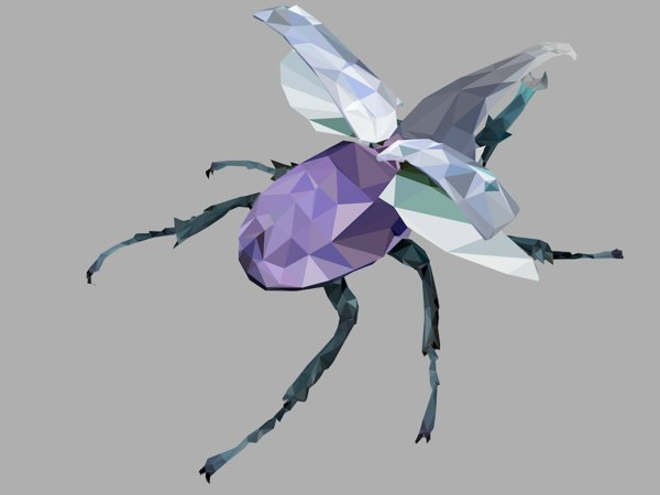 firefly bark beetle art 3D model