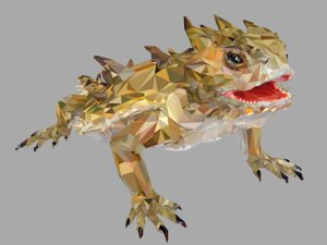 3D lizard art reptile animal