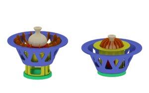 3D model device creating khinkali maker