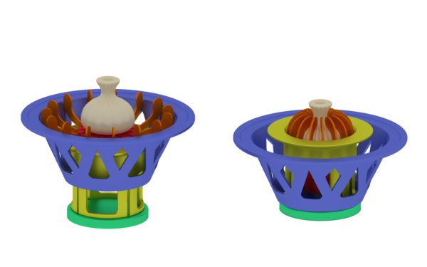 3D model device creating khinkali maker