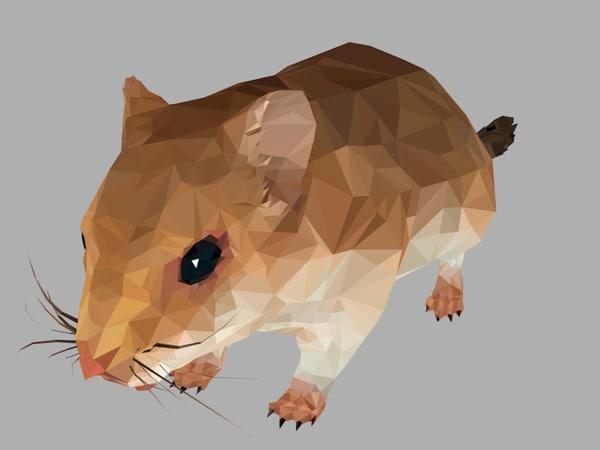 sand mouse art animal 3D model
