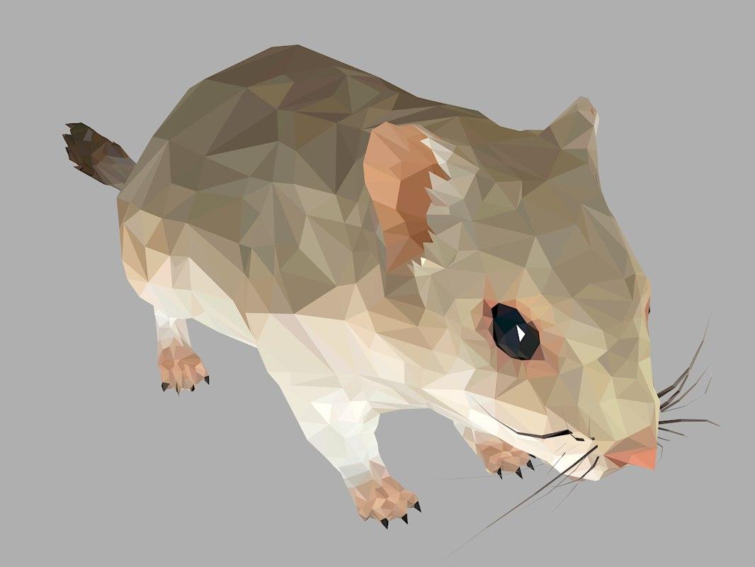 3D sand mouse art animal model