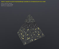 greeble pyramid model