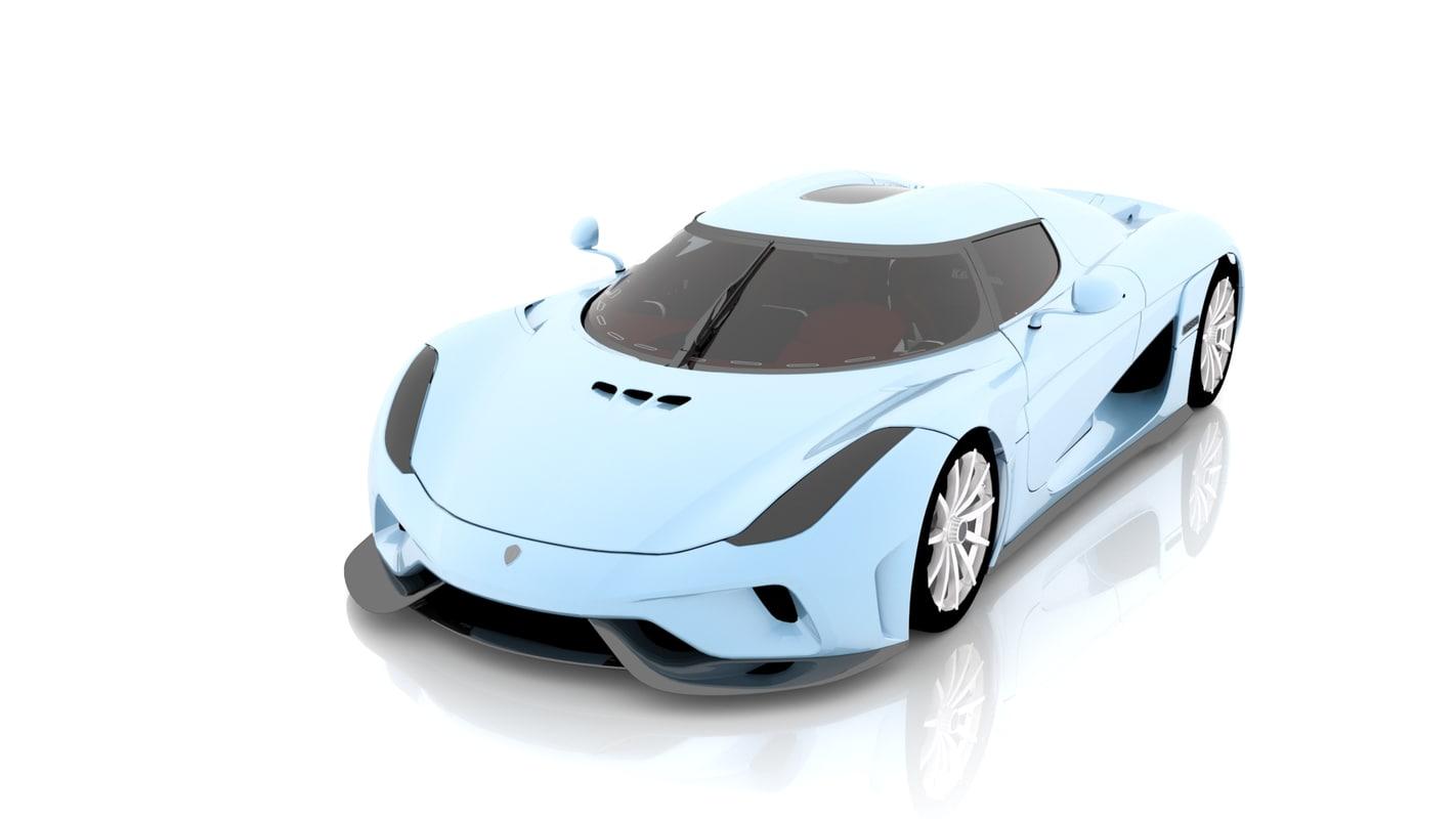 3D 2016 koenigsegg regera model
