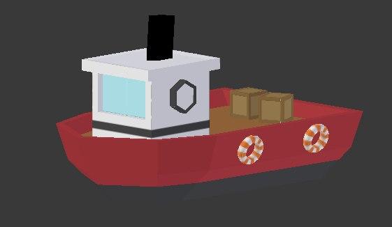 toy fishing boat 3D model