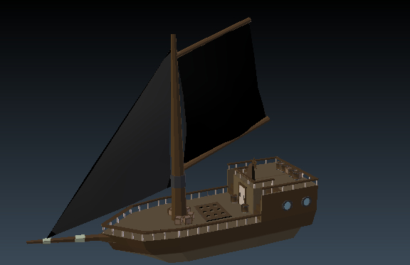 3D pirate boat model