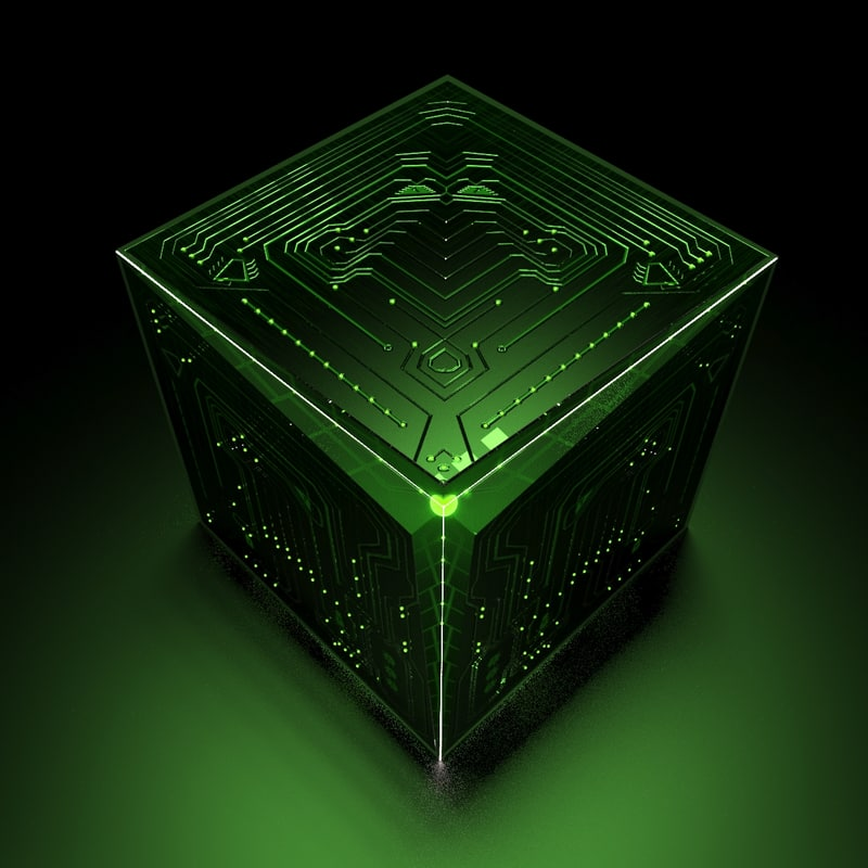 3D extraterrestrial cube