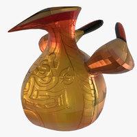 3D model chicken pot