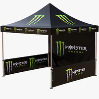 3D commercial capony tent event model
