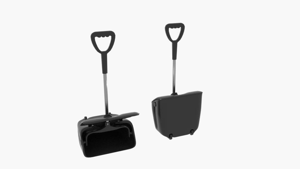 dustpan big wheeler 3D model