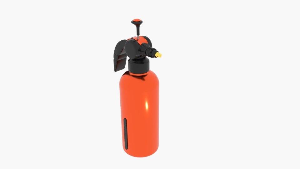 3D spray sprinkle extinguisher