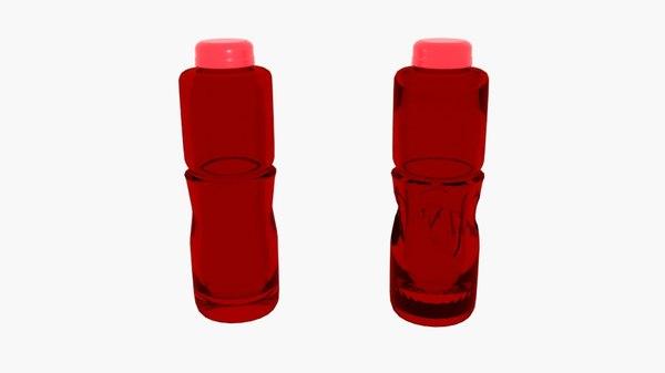 3D bottle sport slim model