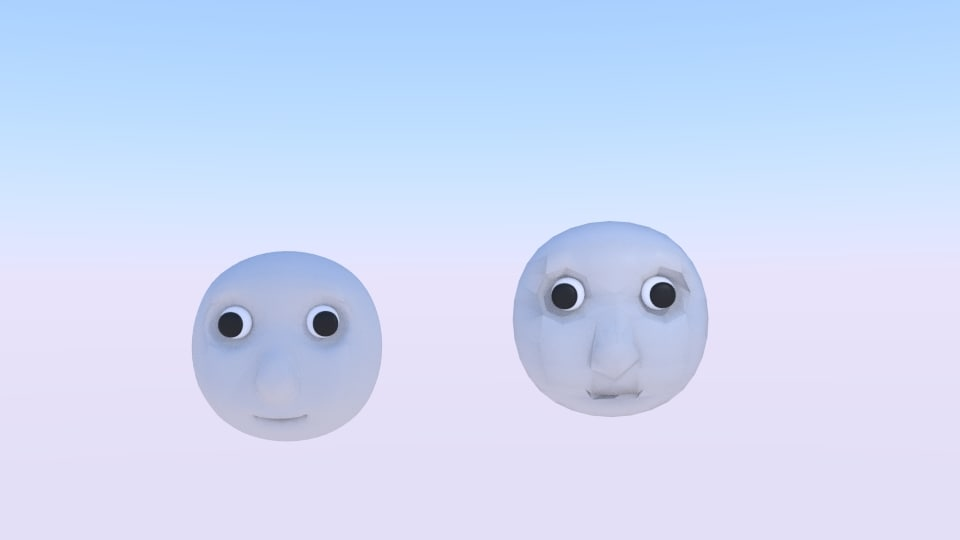 3D thomas friend face
