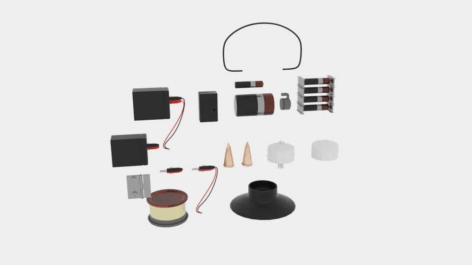 3D model electronic parts packs