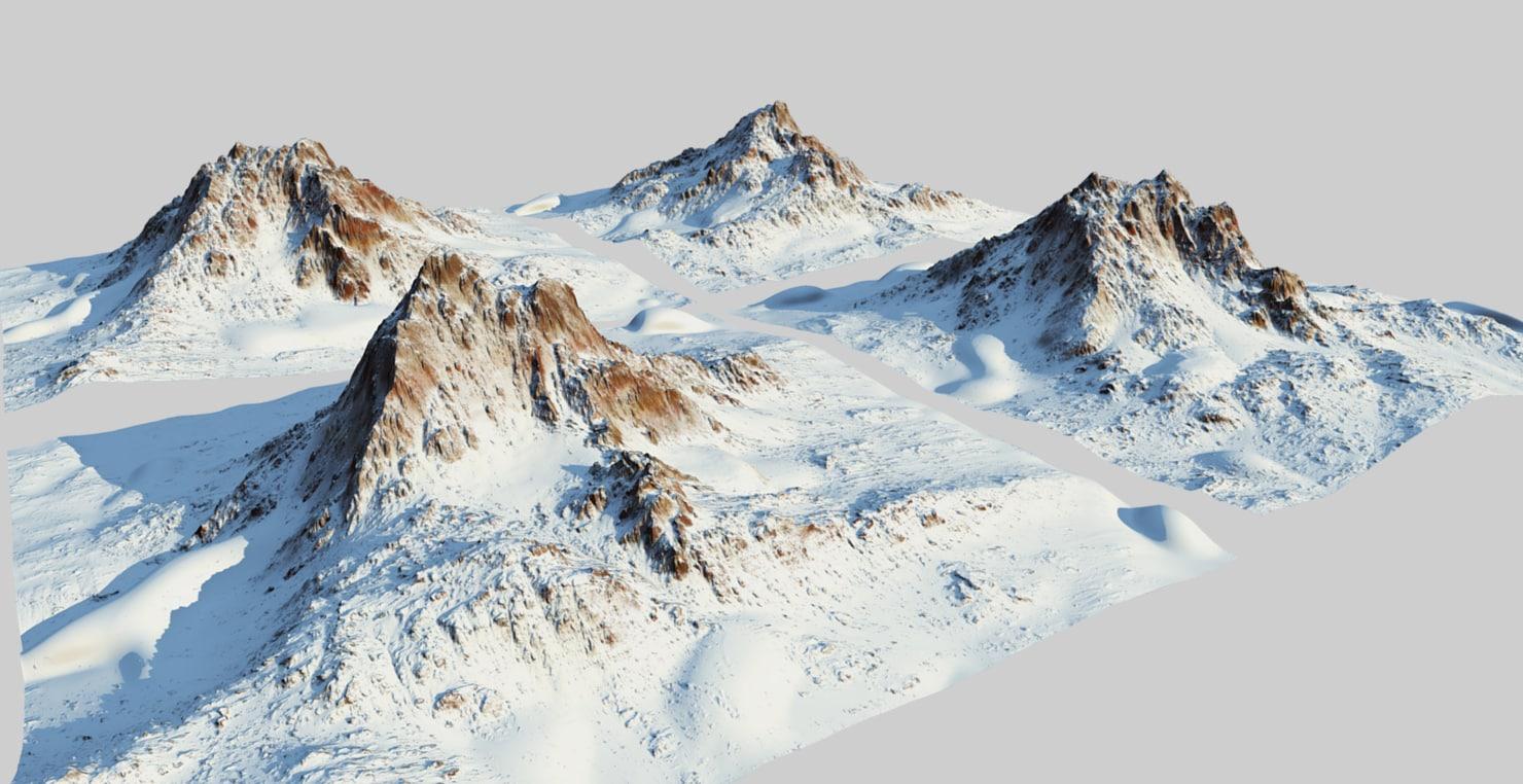 snow mountains 3D