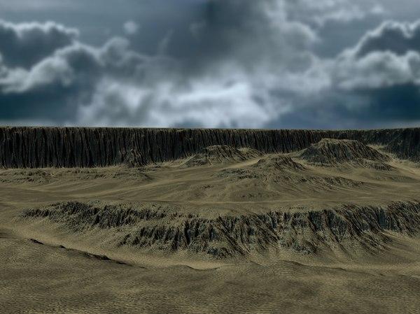 3D heightmaps maps model