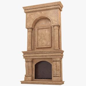 3D fireplace 1 model
