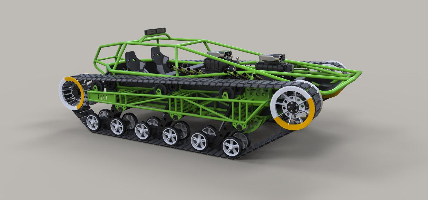 vehicle track concept 3D