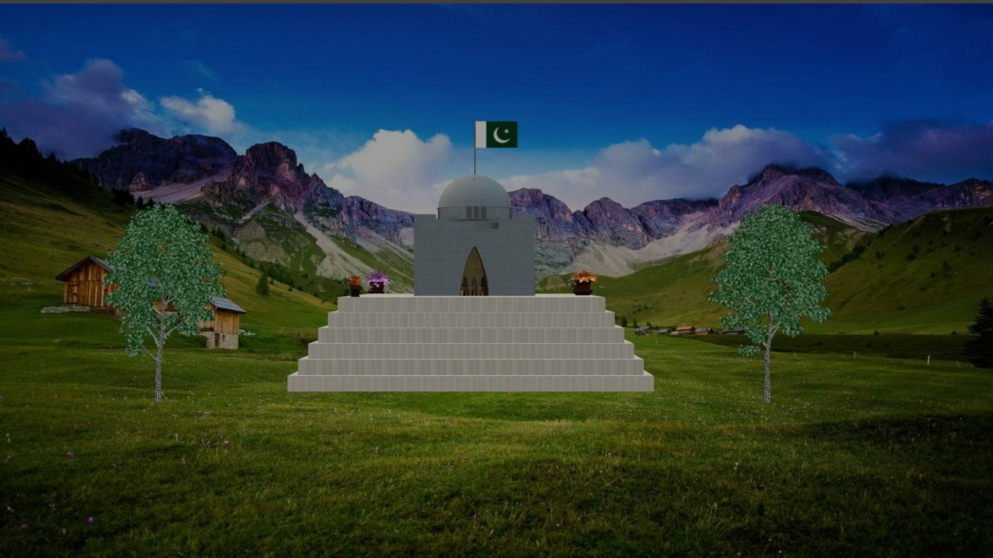 quaid-e-azam tomb quaid 3D model