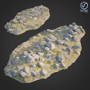 3D ground stones