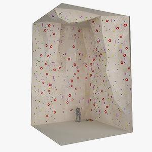 3D model climbing wall