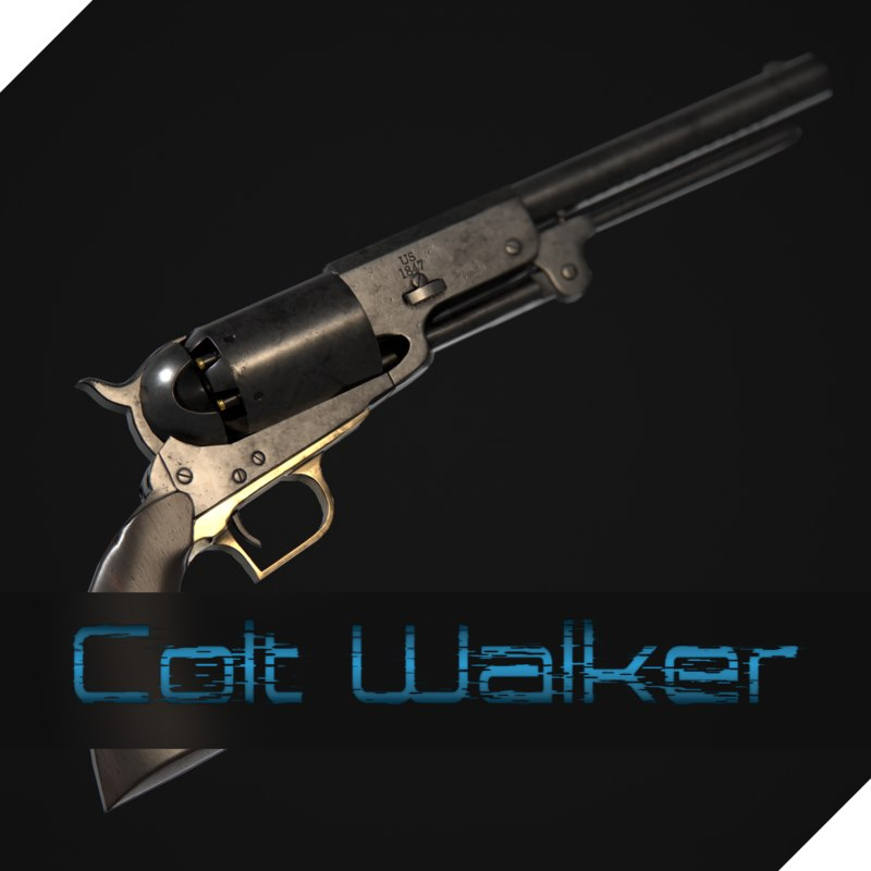 3D colt walker 1847
