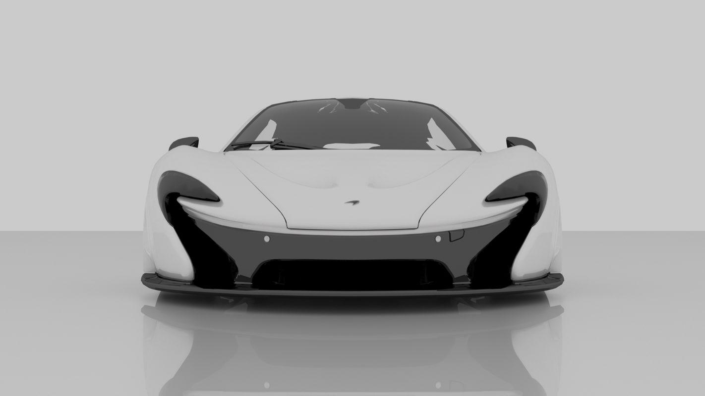 2014 mclaren p1 3D model