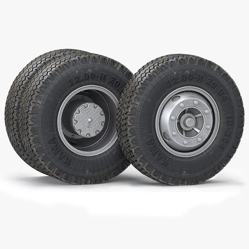 Truck Wheels And Tires >> 3d Truck Wheels Tires Turbosquid 1266547